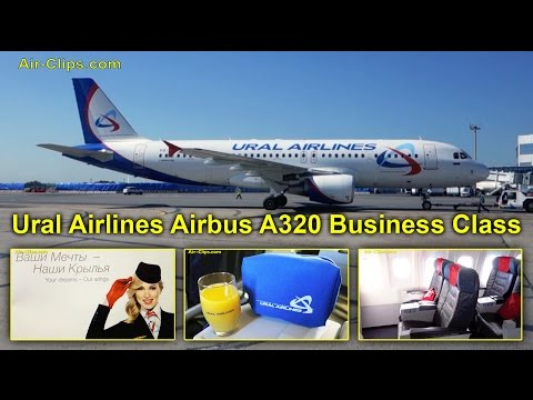 Ural Airlines A320 Business Class Rostov via DME to Jekaterinburg [AirClips full flight series]