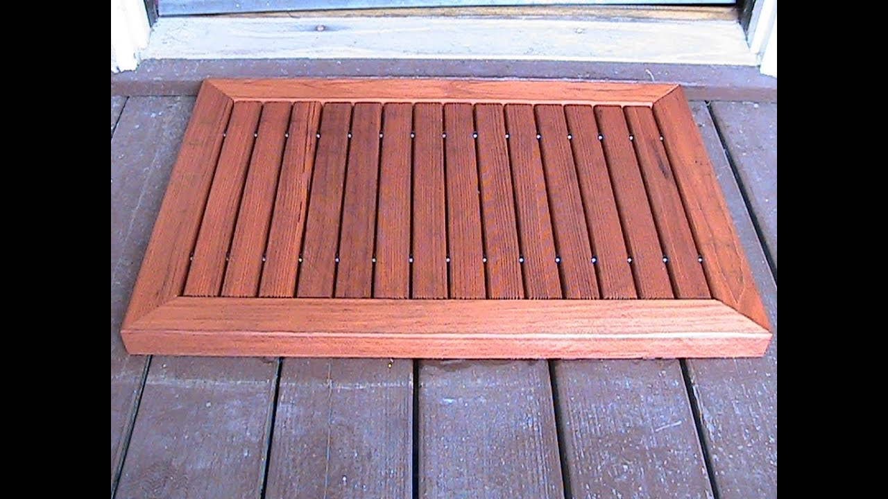 Make a wood doormat - YouTube