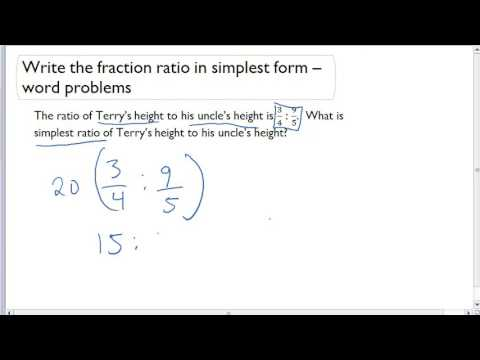 Write the fraction ratio in simplest form - word problems - YouTube