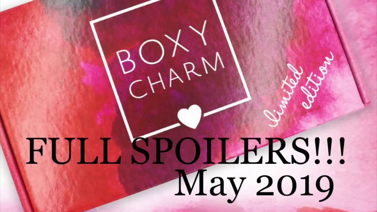 May 2019 SKINCARE LIMITED EDITION BOXYCHARM FULL SPOILERS