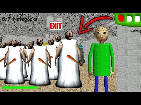 Baldi vs Granny's Army in Baldi's Basics in Education & Learning! (Granny Army vs Baldi's Basics)