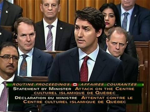 Trudeau: Quebec Mosque Shooting 'Despicable Act'