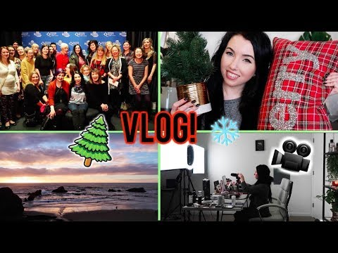 VLOG! 🌲 HOLIDAY DECOR HAUL, OREGON COAST, MEET UP, BEHIND THE SCENES FILMING!