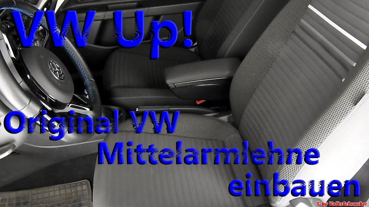 original vw mittelarmlehne in den vw up einbauen. Black Bedroom Furniture Sets. Home Design Ideas