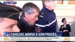 Jérôme Cahuzac est arrivé à son procès au Palais de Justice de Paris