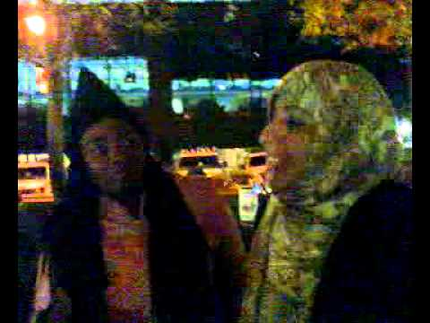 Occupy Wall street Zuccoti park visit by Tawakkol karman on Nov17th night