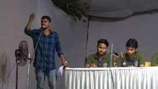 Jayant Kumar Chattra RJD  addressing the main speech at JNUSU Elections 2018 Presidential Debate