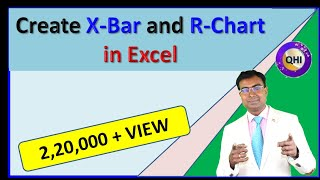 Create Control Charts (X-Bar & R Chart) in Excel
