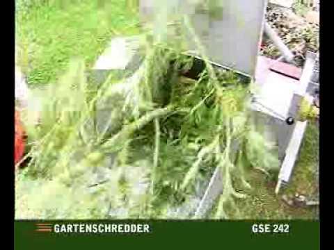 gartenschredder gse 242 youtube. Black Bedroom Furniture Sets. Home Design Ideas