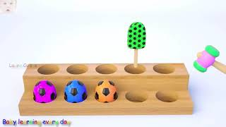 KIDS LEARN COLORS   Invisible Coffee Box and Cow for Kids   Colours with Animals and Soccer Balls #3