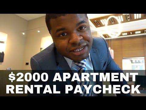 $2000 Apartment Rental Paycheck | Real Estate Agent Daily Life | vlog #12 |