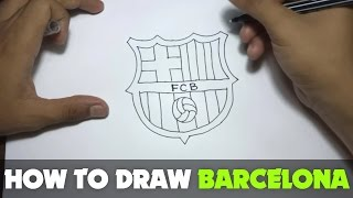 drawing how to draw a cartoon fc barcelona logo tutorial step by step
