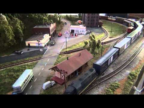 "N Scale Model Train Layout ""Blue Ridge"""