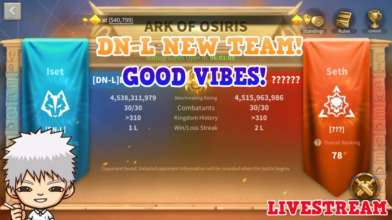 DN-L New Team! Good Vibes! Let's See How We Do Today!