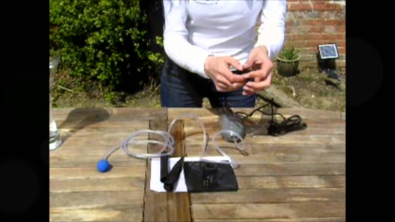 Solar pond air pump simple how to set up and use youtube for Pond pump setup