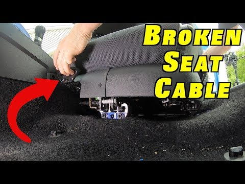 How To Remove a Seat Adjustment Cable (Seat Won't Move)