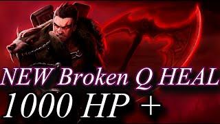 Darius Q heal is broken - 1000+ HP Heal