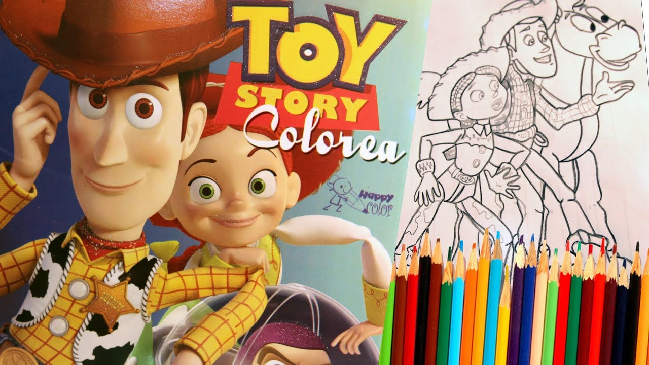 Toy Story 3 Coloring Book Learning Colors Youtube