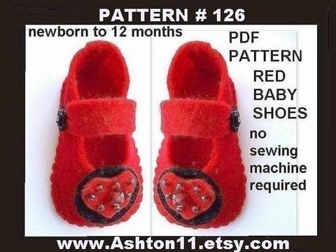 How to make LITTLE FELT BABY SHOES sewing for beginners