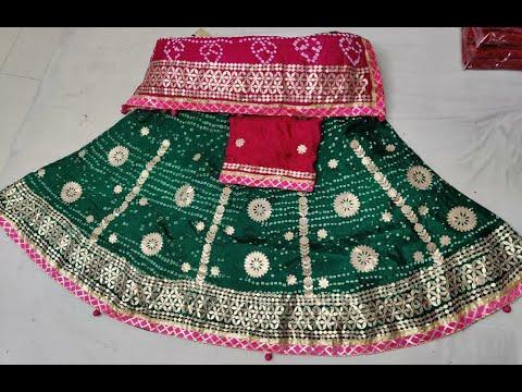 Heavy Gota Patti Work Bandhani Lehengas   Attractive Tapeta Silk Stitched Lehengas (2021)