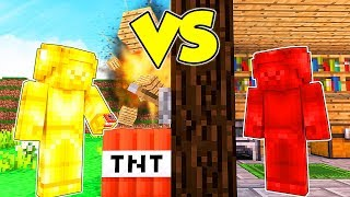RED STEVE contro GOLD STEVE su MINECRAFT!