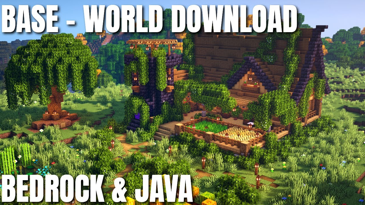 Are the Best Minecraft Bases BIGGER than 1 Chunk base? World Download Bedrock & Java (Survival base)