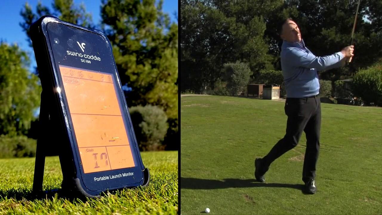 Swing Caddie Sc100 Portable Golf Launch Monitor Video