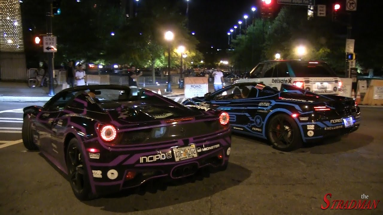 Glow In The Dark Tron Supercars On The Gumball 3000 Team