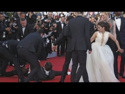 SHOCKING: America Ferrera ambushed by man who climbs under her dress at Cannes Film Festival