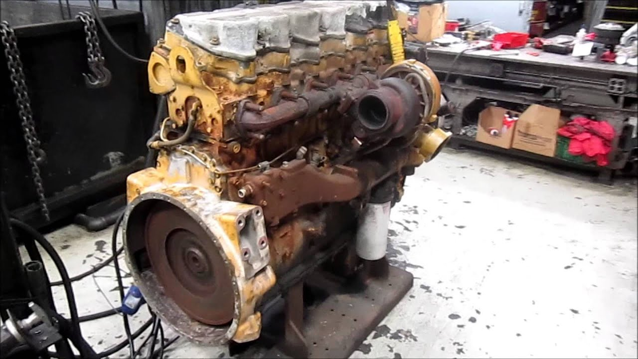 2004 Caterpillar C15 Diesel Engine Running Single Turbo