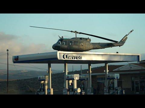 Huey helo atop Jacumba Hot Springs gas station