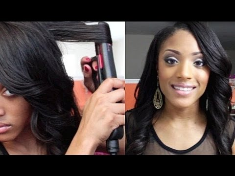 flat iron styles for short african american hair how to curl your hair with flat iron straightener 3765 | hqdefault