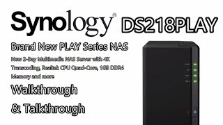 synology DS218PLAY 2-Bay Multimedia NAS for 2017 and 2018