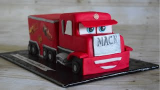 Sculpted Mack from Disney Cars Cake Tutorial