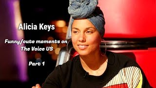 Alicia Keys | Funny/Cute moments on The Voice US