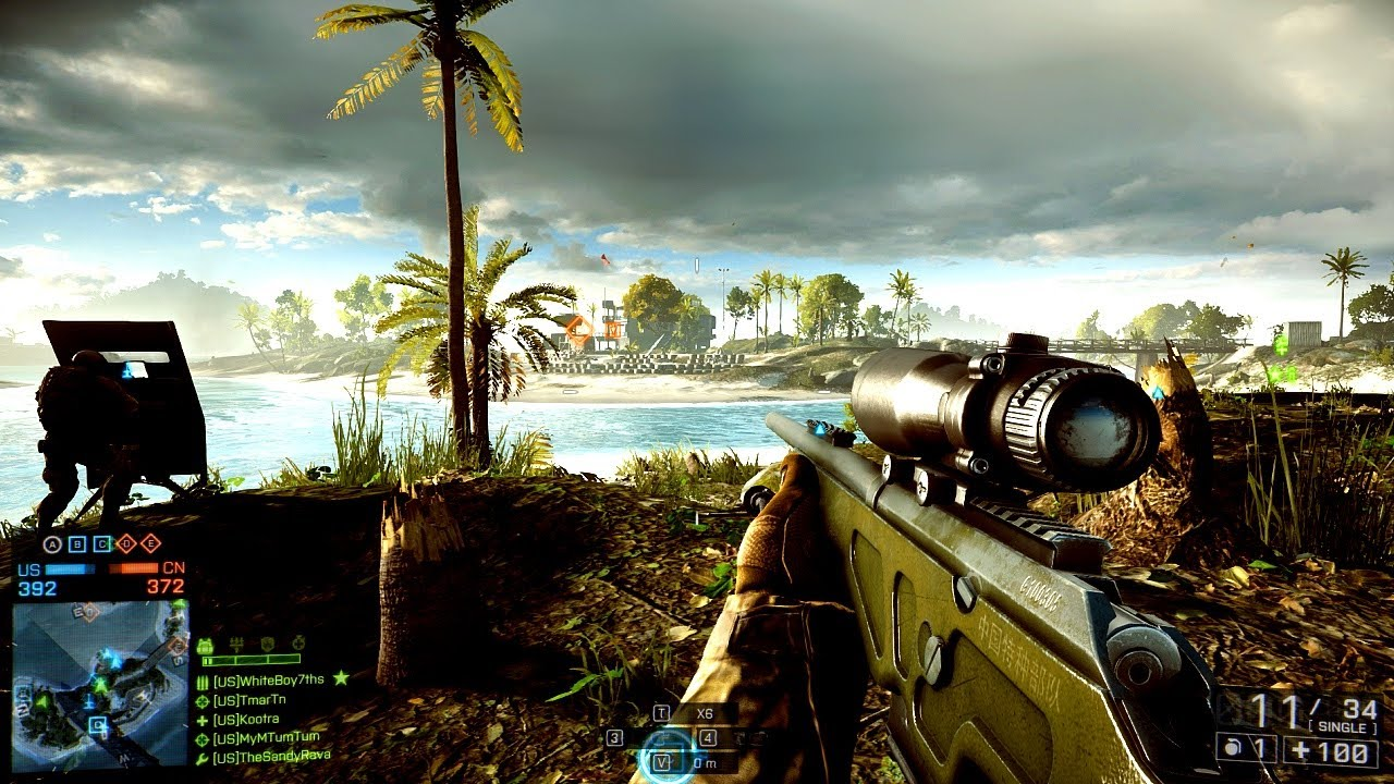 Battlefield 4 Sniping Gameplay Multiplayer Online Sniper