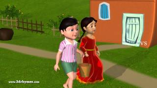 Jack and Jill went up the hill - 3D Animation English Nursery rhyme for children