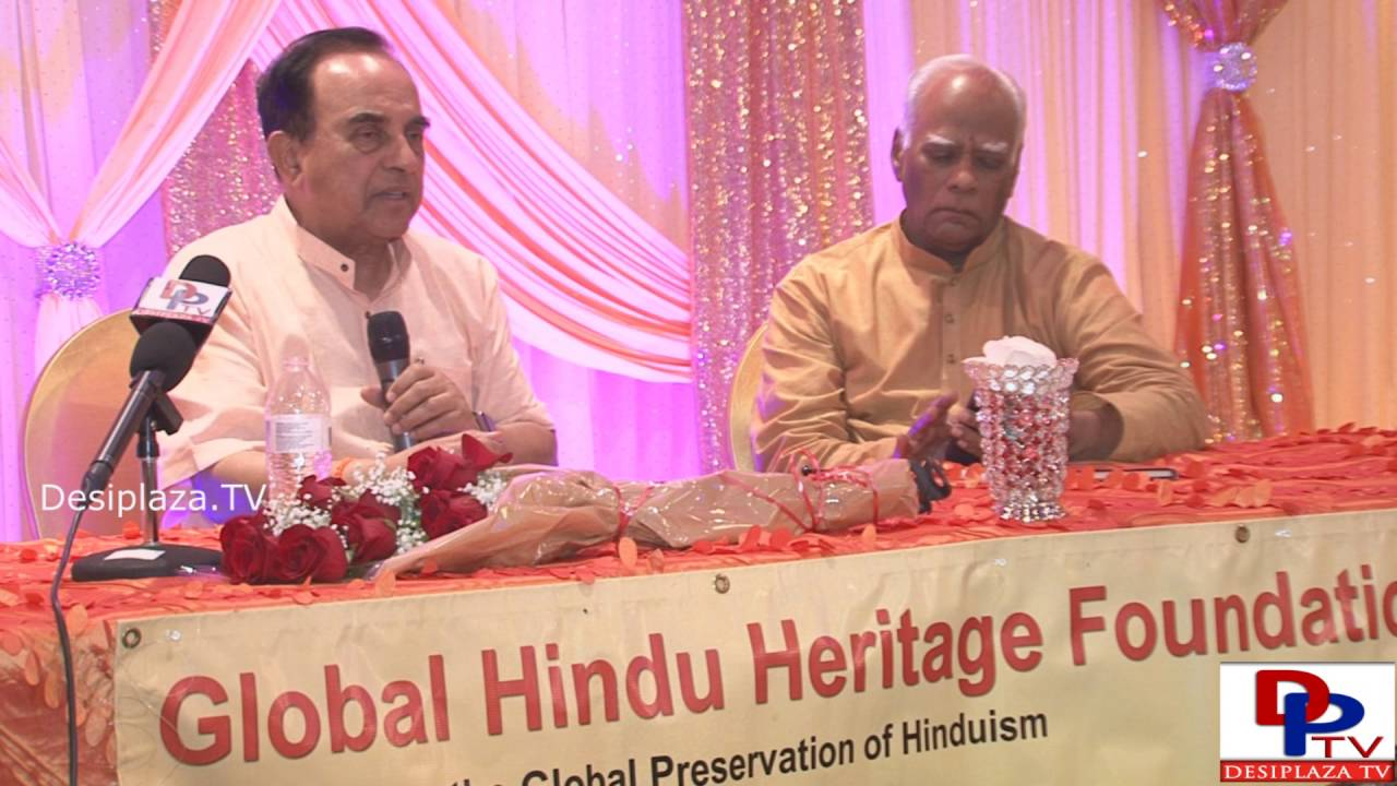 Last Part . Dr.Subramanian Swamy giving his lecture at GHHF sponsored event in Dallas.