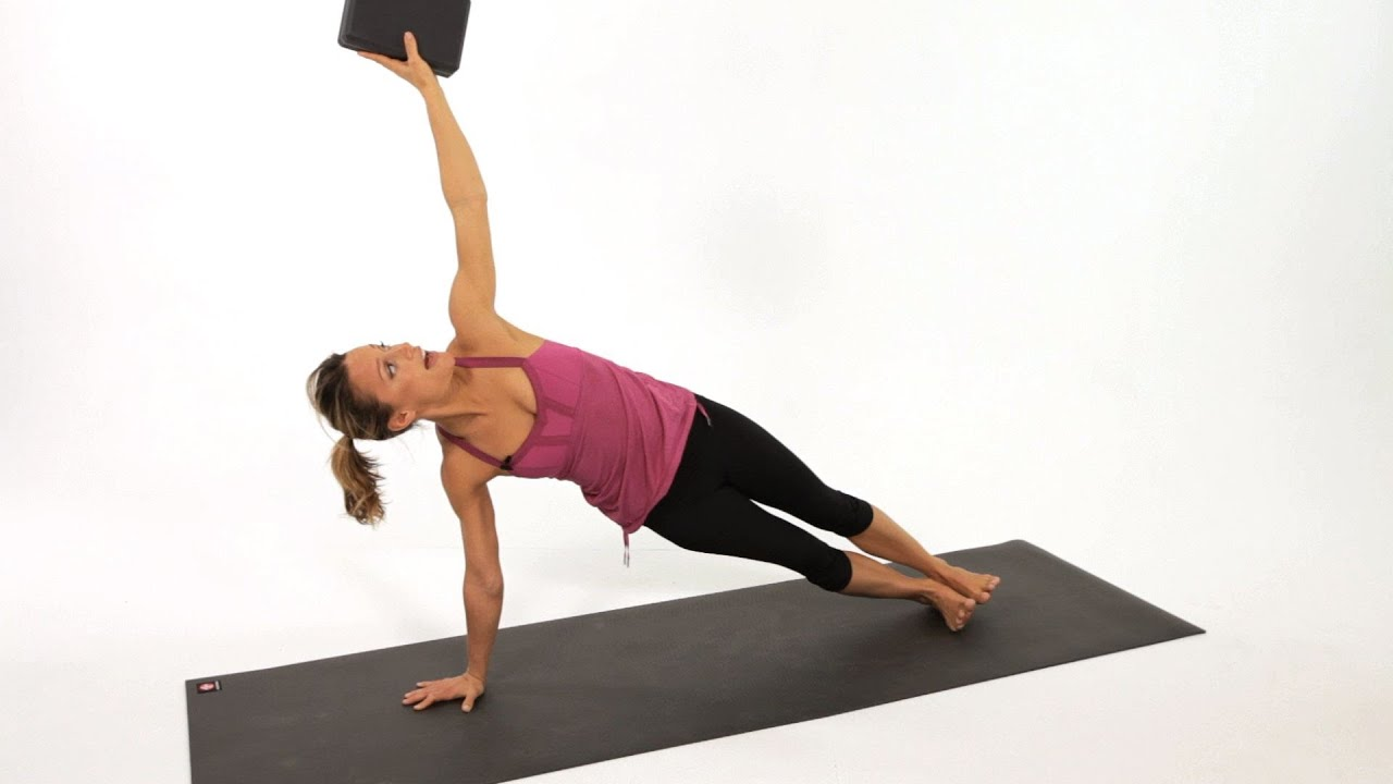 How to do a side plank pose yoga youtube for Plank blocks
