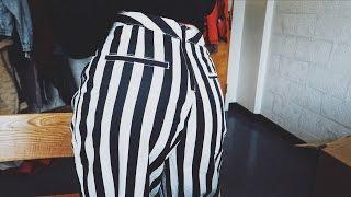 видео Женские брюки в полоску (51 фото): классические, в мелкую полоску или по бокам