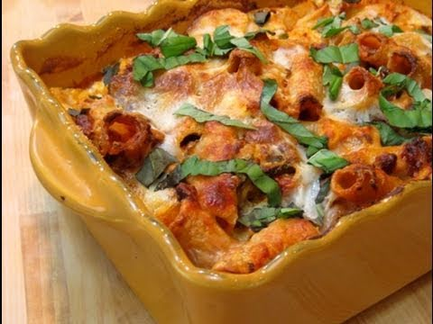 How to Make Baked Ziti / Pasta al Forno Recipe - by Laura Vitale Episode 51 Laura in the Kitchen Travel Video