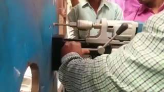 horizontal tapping on vertical plate with bds magnetic drilling tapping machine