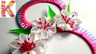 Подарок маме на 8 марта своими руками,канзаши мастер класс,kanzashi flower tutorial(Здравствуйте, друзья! В этом видео уроке, я покажу как сделать подарки на 8 марта своими руками для любимой..., 2016-02-22T17:26:04.000Z)
