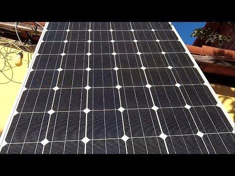 PAINEL SOLAR 250 WATTS USANDO GELADEIRA EM ENERGIA SOLAR SOL DA TARDE GERA COM EFICIENCIA !