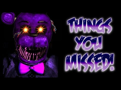 Things you might have missed secrets of fredbear five nights at