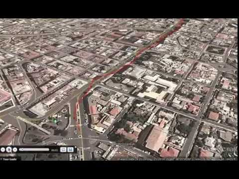 Google Earth Tour: Downtown Asmera Tour from City Park to Ba