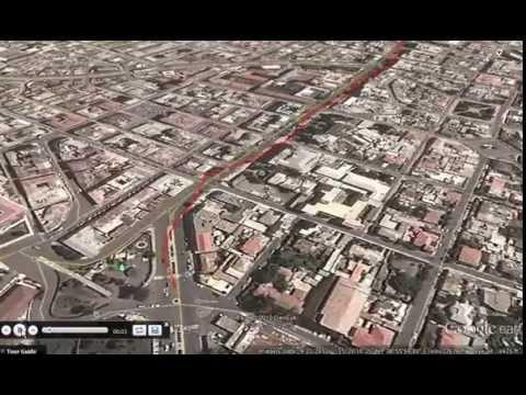 Google Earth Tour: Downtown Asmera Tour from City Park to Bahti Meskerem