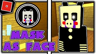 How to get MASK AS FACE BADGE PUPPET MORPH SKIN in PIGGY RP W I P REMAKE Roblox