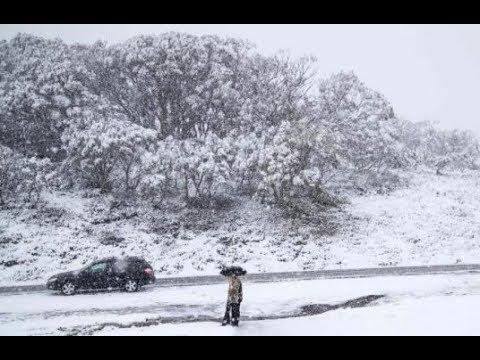 Almost Summer Snow Australia, Giant Hail, Record Cold Boston & NYC (483)