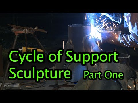 Cycle of Support. Metal Sculpture. Part 1